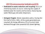 icc environmental initiatives 2 3