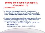 setting the scene concepts contexts 1 3