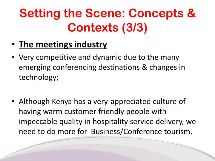 Setting the Scene: Concepts & Contexts (3/3)