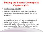 setting the scene concepts contexts 3 3