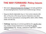 the way forward policy issues 1 1