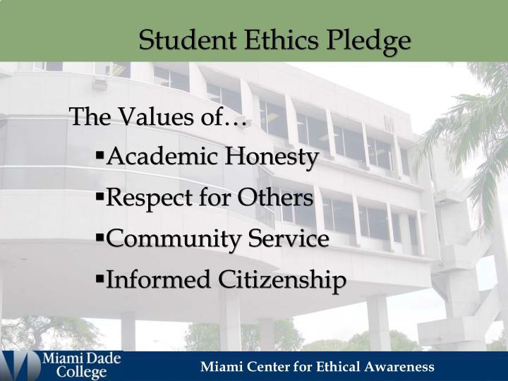 Student Ethics Pledge