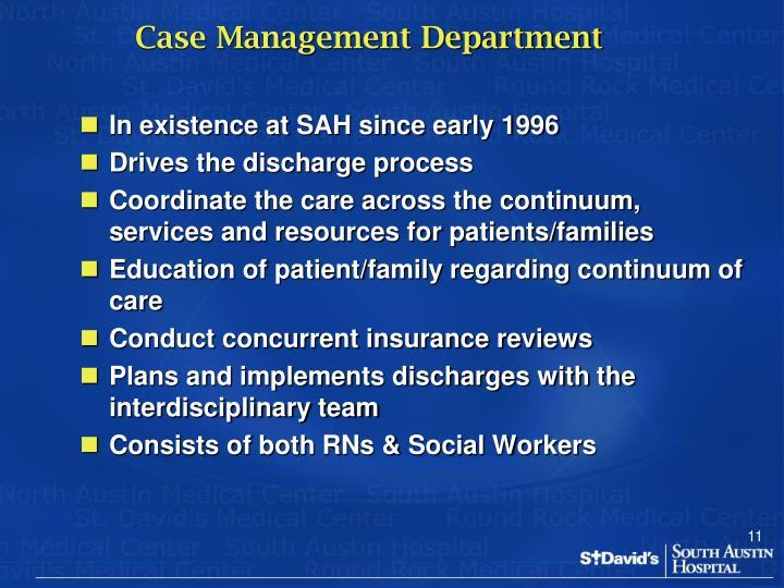 Case Management Department