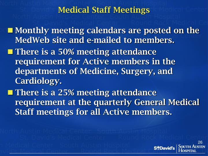 Medical Staff Meetings