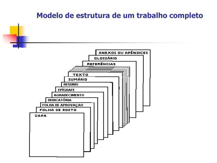 Modelo de estrutura de um trabalho completo