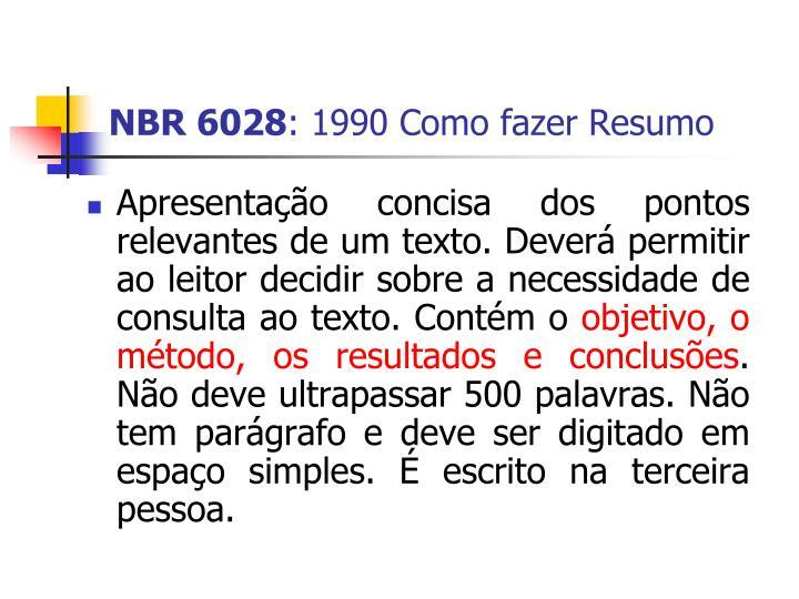 NBR 6028