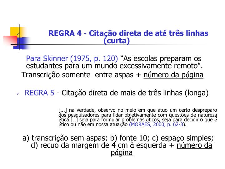 REGRA 4