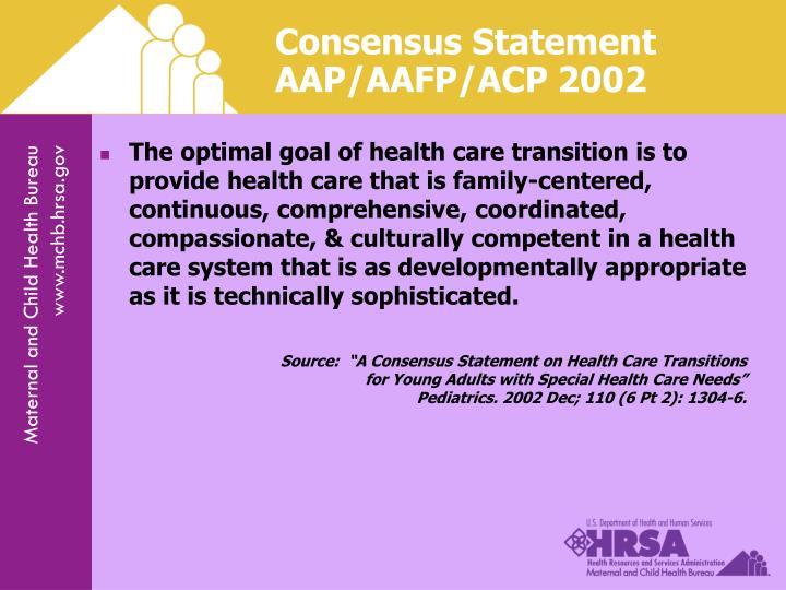 Consensus Statement