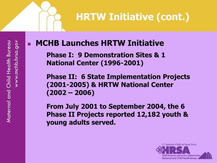 HRTW Initiative (cont.)