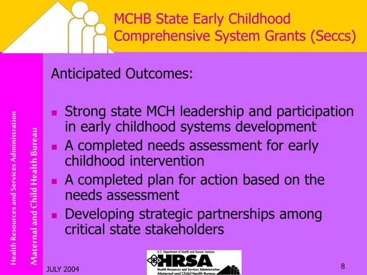 MCHB State Early Childhood Comprehensive System Grants (Seccs)