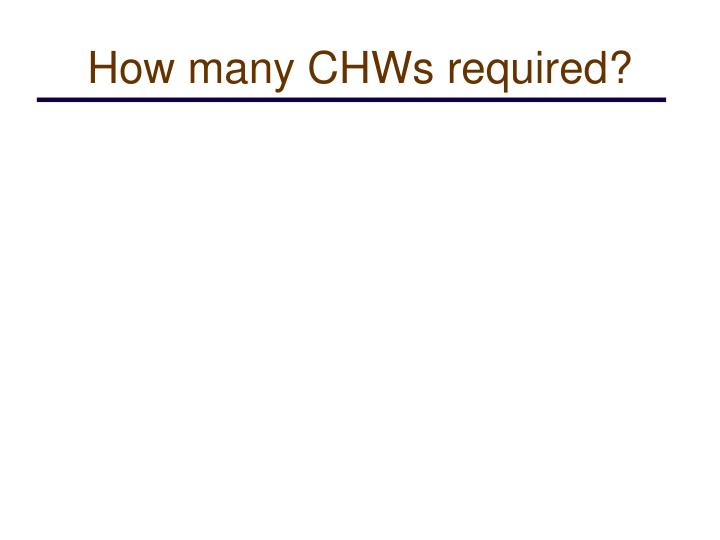 How many CHWs required?