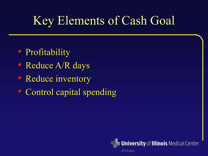 Key Elements of Cash Goal