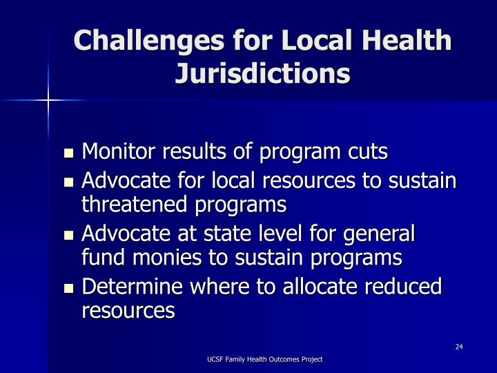 Challenges for Local Health Jurisdictions