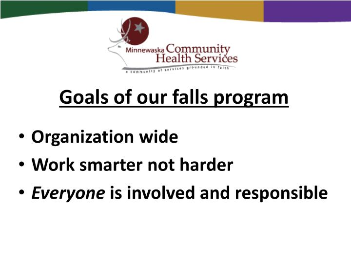 Goals of our falls program