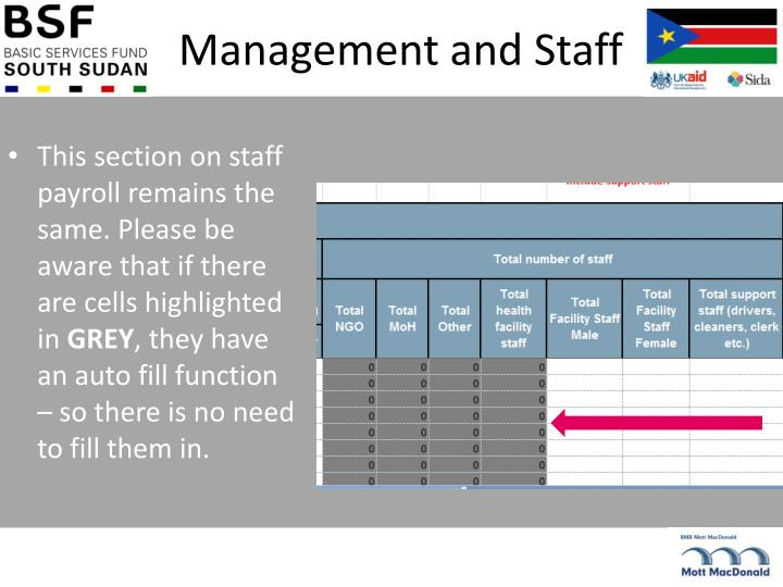 Management and Staff