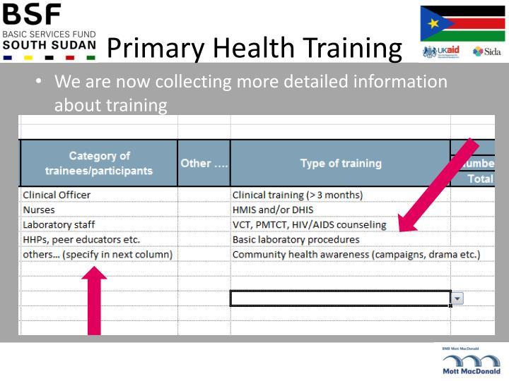 Primary Health Training
