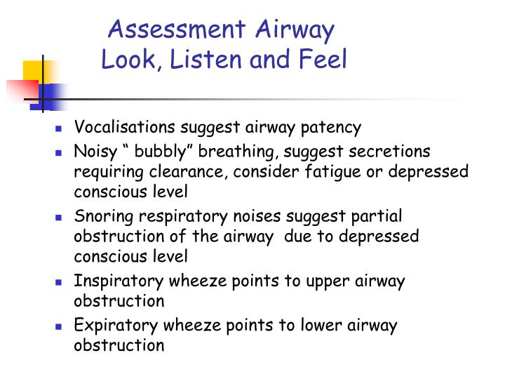 Assessment Airway