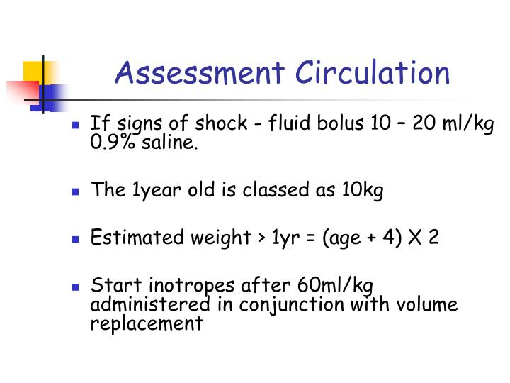 Assessment Circulation