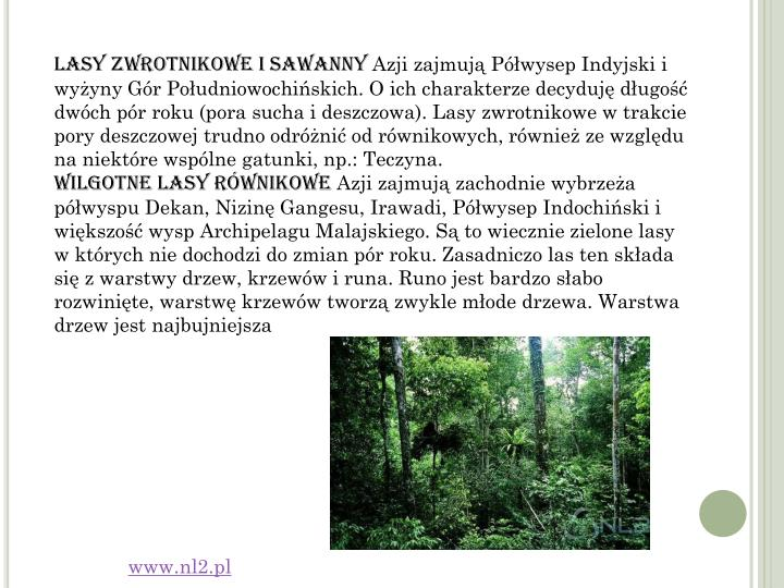 Lasy zwrotnikowe i sawanny