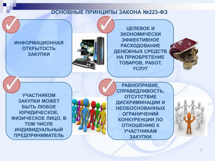 ОСНОВНЫЕ ПРИНЦИПЫ ЗАКОНА №223-ФЗ