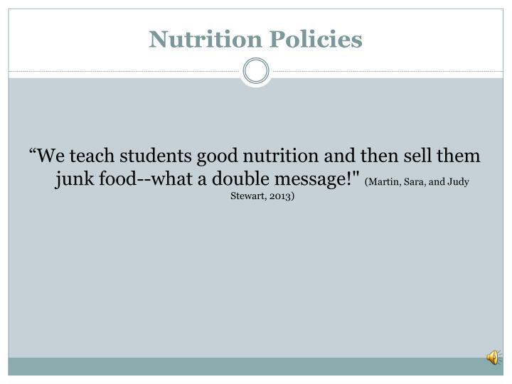 Nutrition Policies