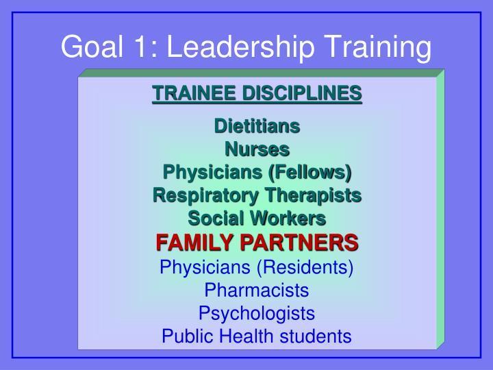 Goal 1: Leadership Training