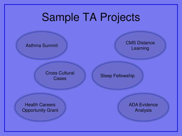 Sample TA Projects
