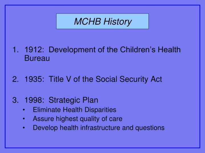 MCHB History