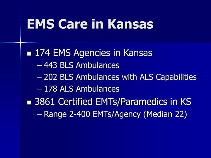 EMS Care in Kansas
