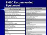 emsc recommended equipment