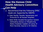 how the kansas child health advisory committee can help1