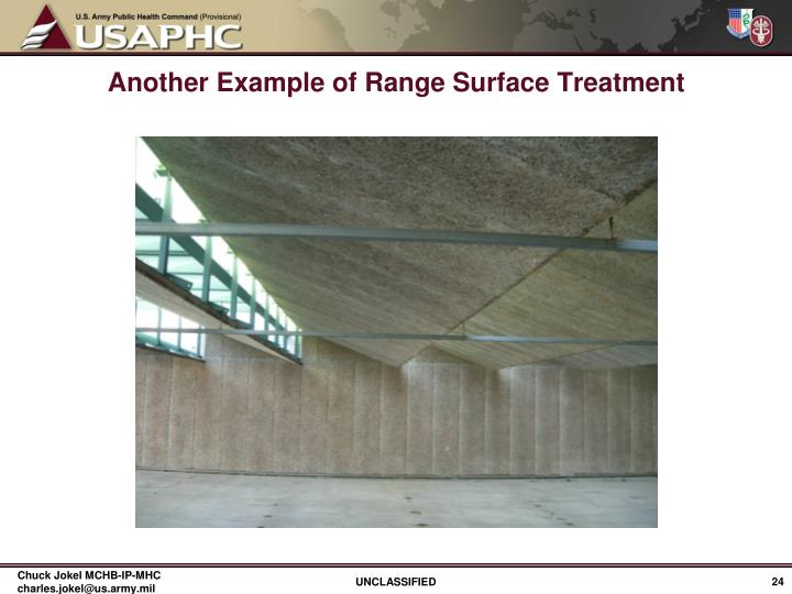 Another Example of Range Surface Treatment