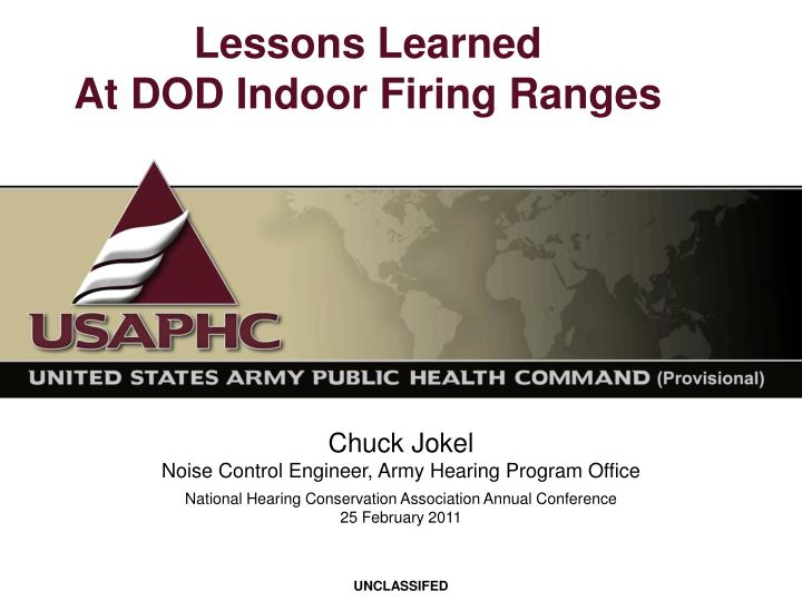 Lessons learned at dod indoor firing ranges