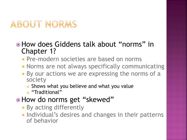 About Norms