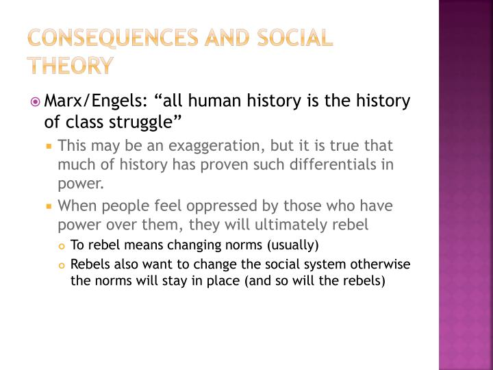Consequences and Social Theory