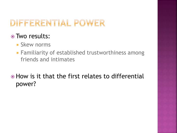 Differential Power