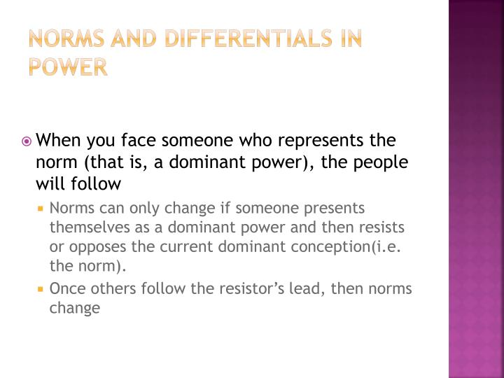 Norms and differentials in power