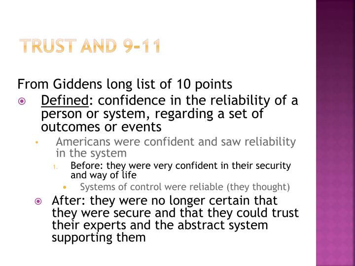 Trust and 9-11