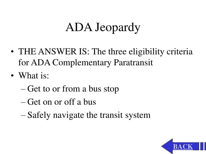 ADA Jeopardy