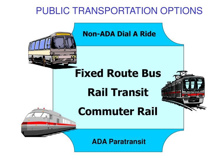 PUBLIC TRANSPORTATION OPTIONS