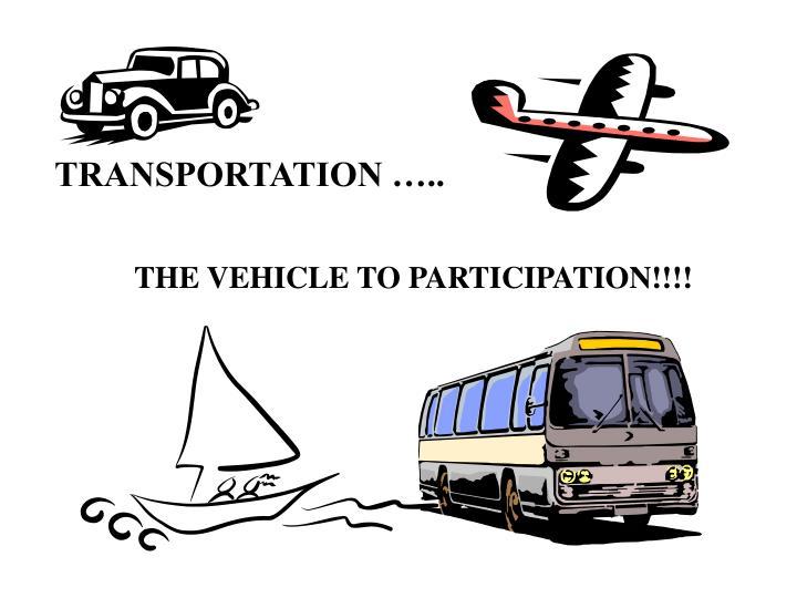 TRANSPORTATION …..
