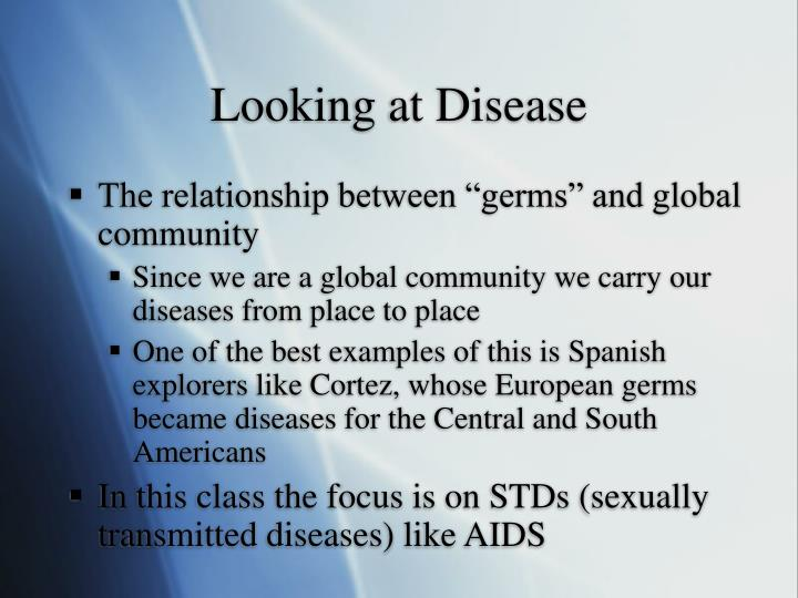 Looking at Disease
