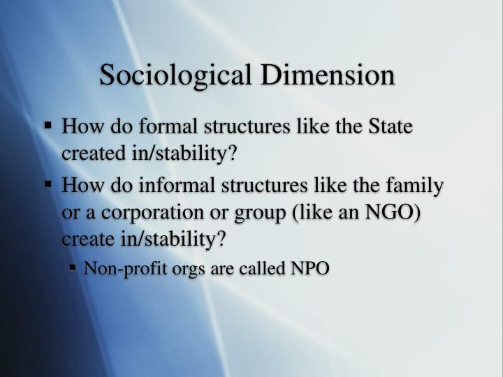Sociological Dimension