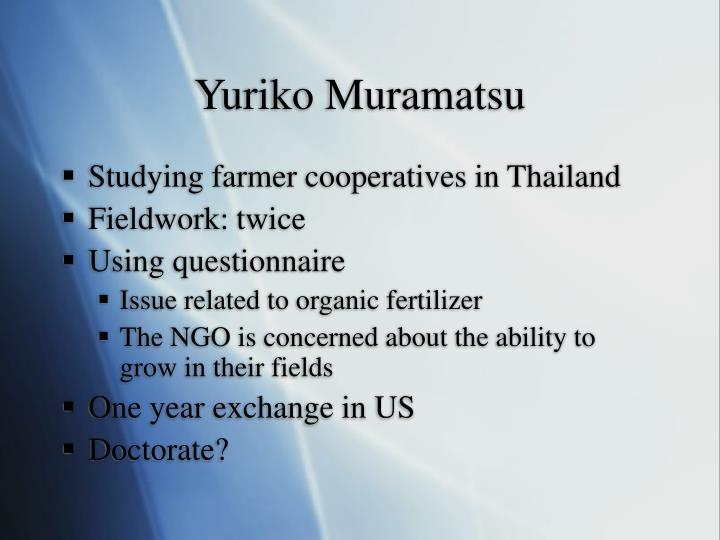 Yuriko Muramatsu