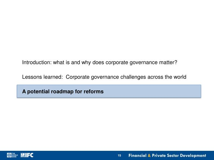 Introduction: what is and why does corporate governance matter?