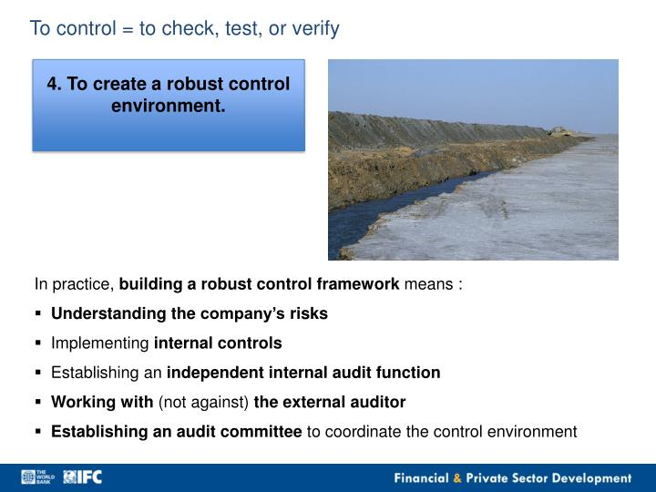 To control = to check, test, or verify