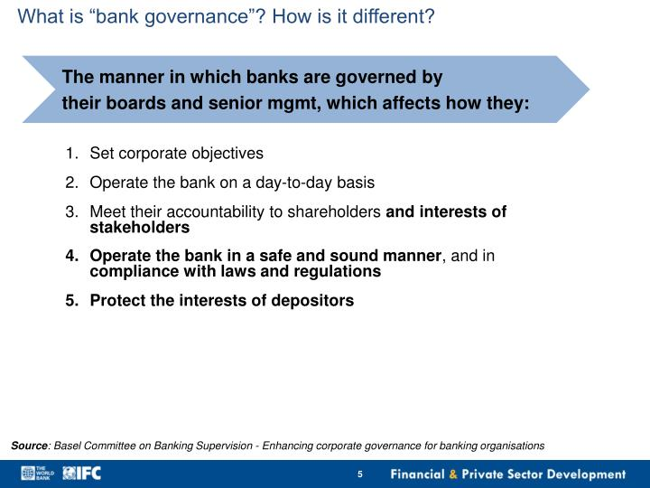 """What is """"bank governance""""? How is it different?"""