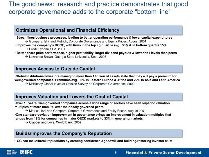 Streamlines business processes, leading to better operating performance & lower capital expenditures