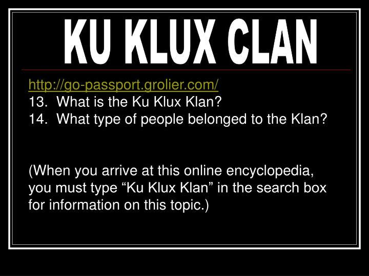 KU KLUX CLAN