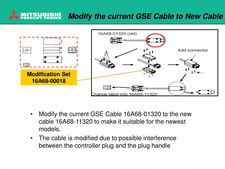 Modify the current GSE Cable to New Cable